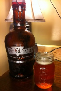 Big Daddy's Brewing Co.'s Virginia Creeper Pale Ale and one of their tank-like grolwers.