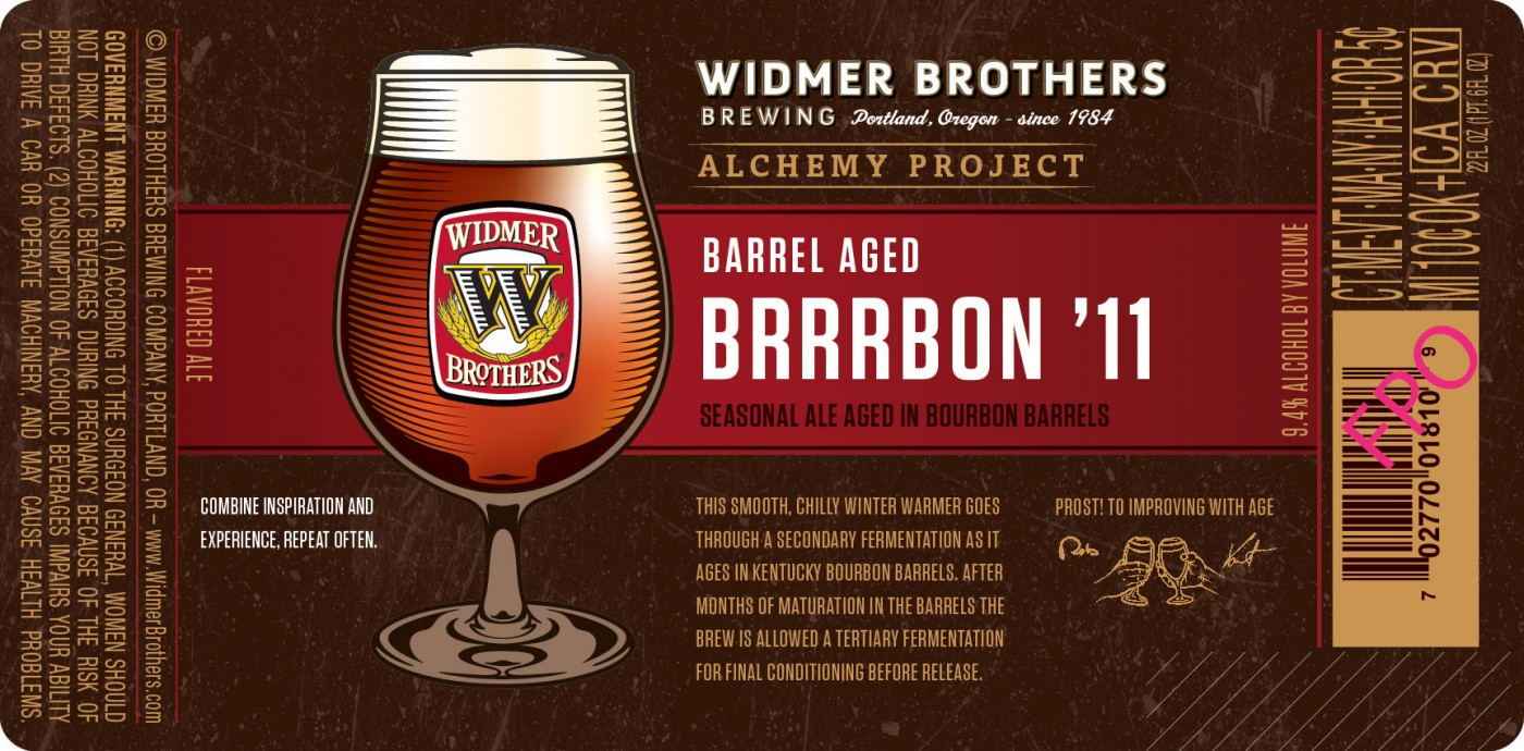 One Minute Beer Review: Widmer Brothers-Barrel Aged Brrrbon 11′