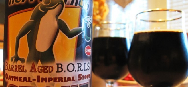 Hoppin' Frog's BORIS the Crusher, Russian Imperial Stout.