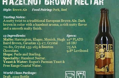 Rogue Brewery – Hazelnut Brown Nectar