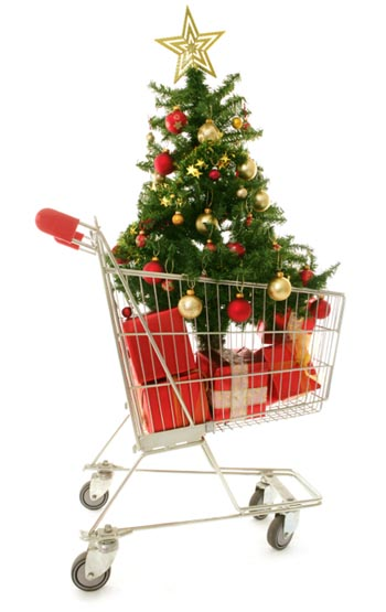 Christmas tree commercialism shopping Christmas holiday