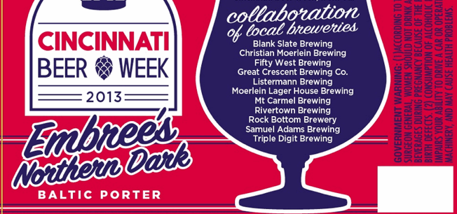 Cincinnati Beer Week 2013: Embree's Northern Dark Baltic Porter