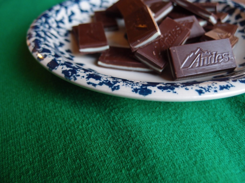 Andes Mint Guinness Brownies