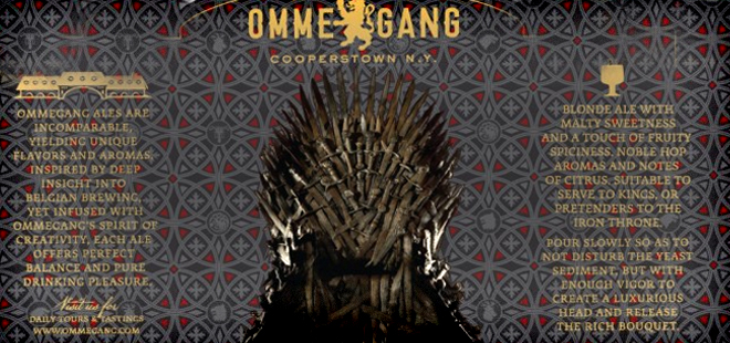 Iron Throne Blonde Ale – Ommegang Brewery