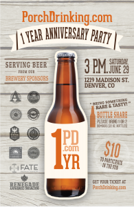 PorchDrinking Anniversary Party