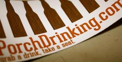 porchdrinking sticker