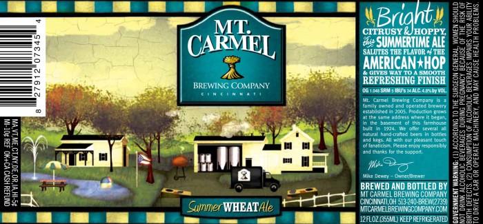 Mt. Carmel Brewing Company – Summer Wheat Ale