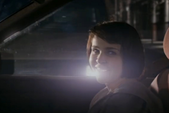 Pay attention, Mae Whitman's boyfriend! There's a car coming right at her!
