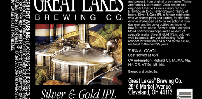 Great Lakes Brewing Company – Silver & Gold IPL