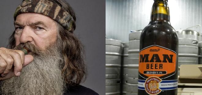 man beer - duck dynasty