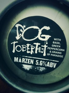Dogtoberfest Marzen with basil, green peppercorn, and grains of paradise