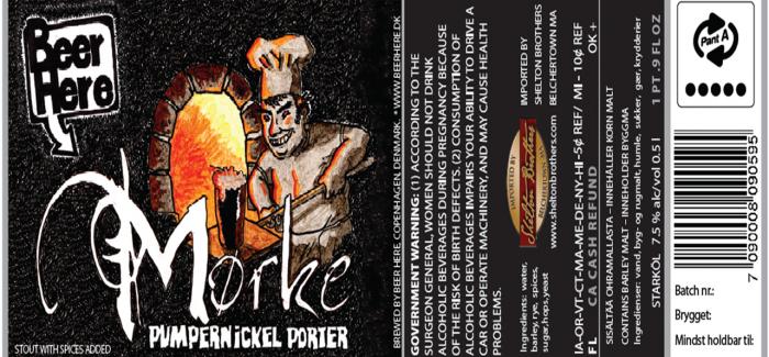 Mørke – Pumpernickel Porter by Beer Here
