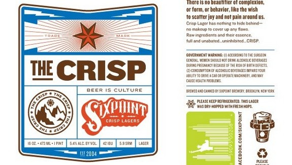 Sixpoint Brewing – The Crisp