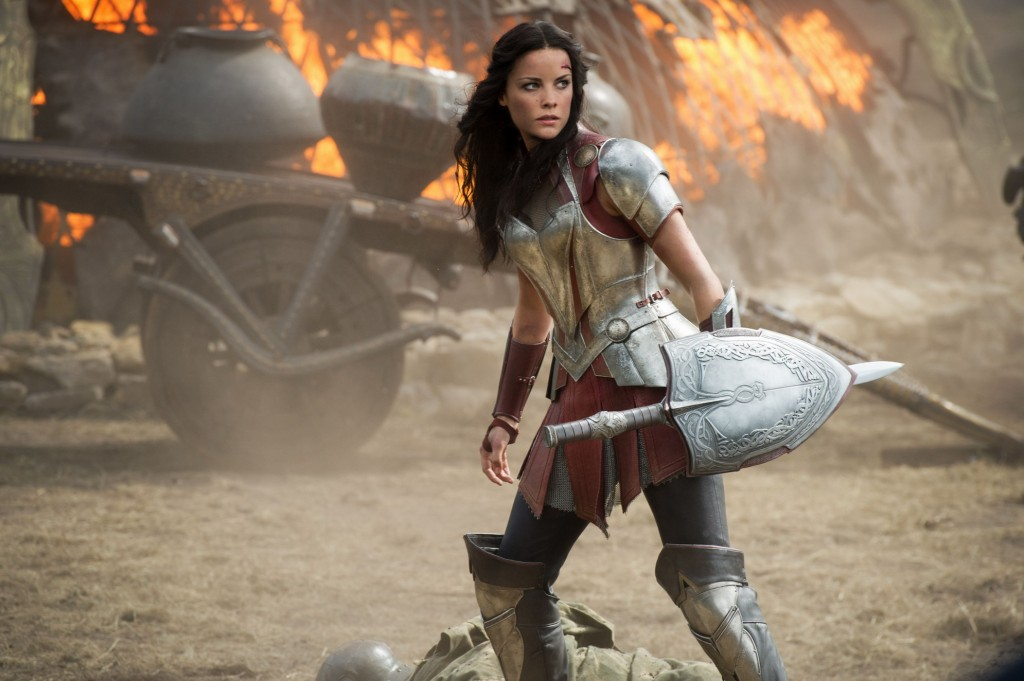 Jaimie Alexander as Definitelyalmostwonderwoman in Thor 2