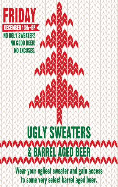 Ugly Sweaters and Barrel Aged Beers - 387 x 609