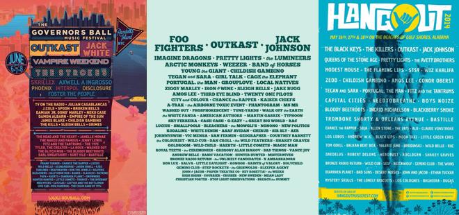 2014 Summer Music Festival Lineups