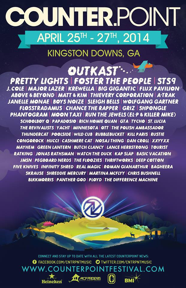 2014 Counterpoint lineup