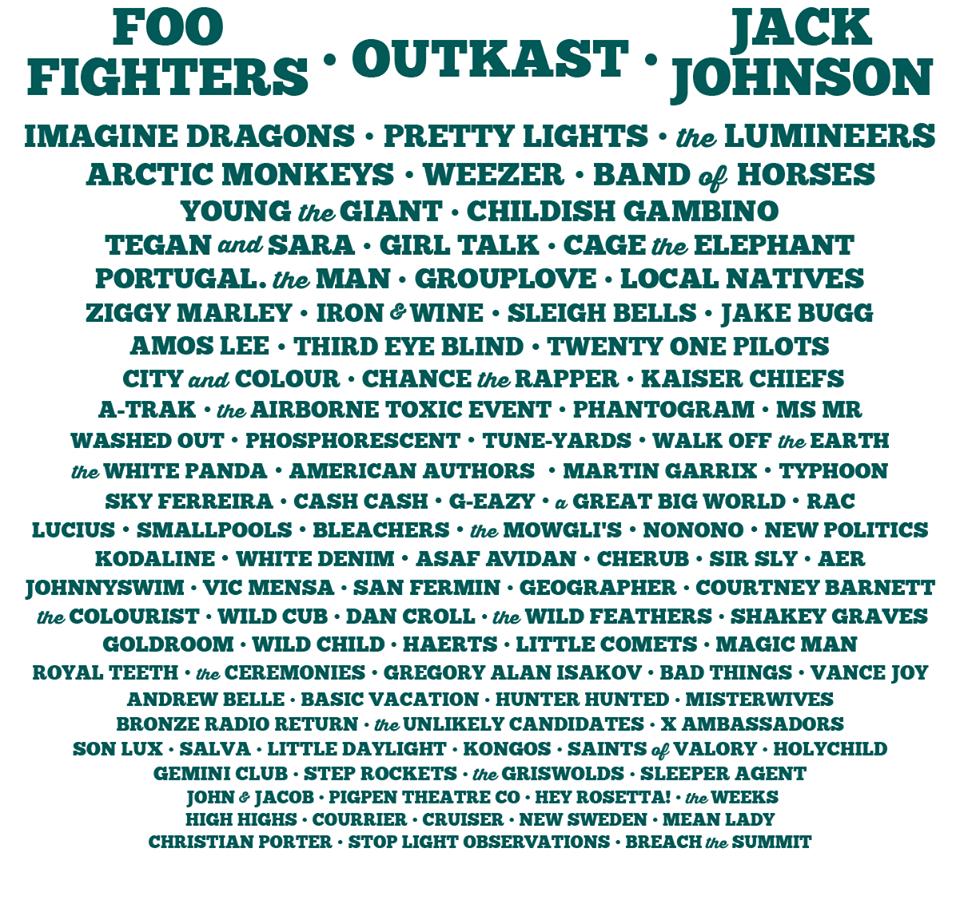 2014 firefly music festival lineup