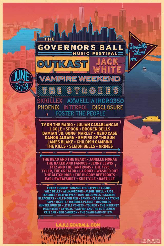 2014 Governor's Ball Lineup
