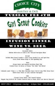 ccb - girl scout cookie - wine vs beer