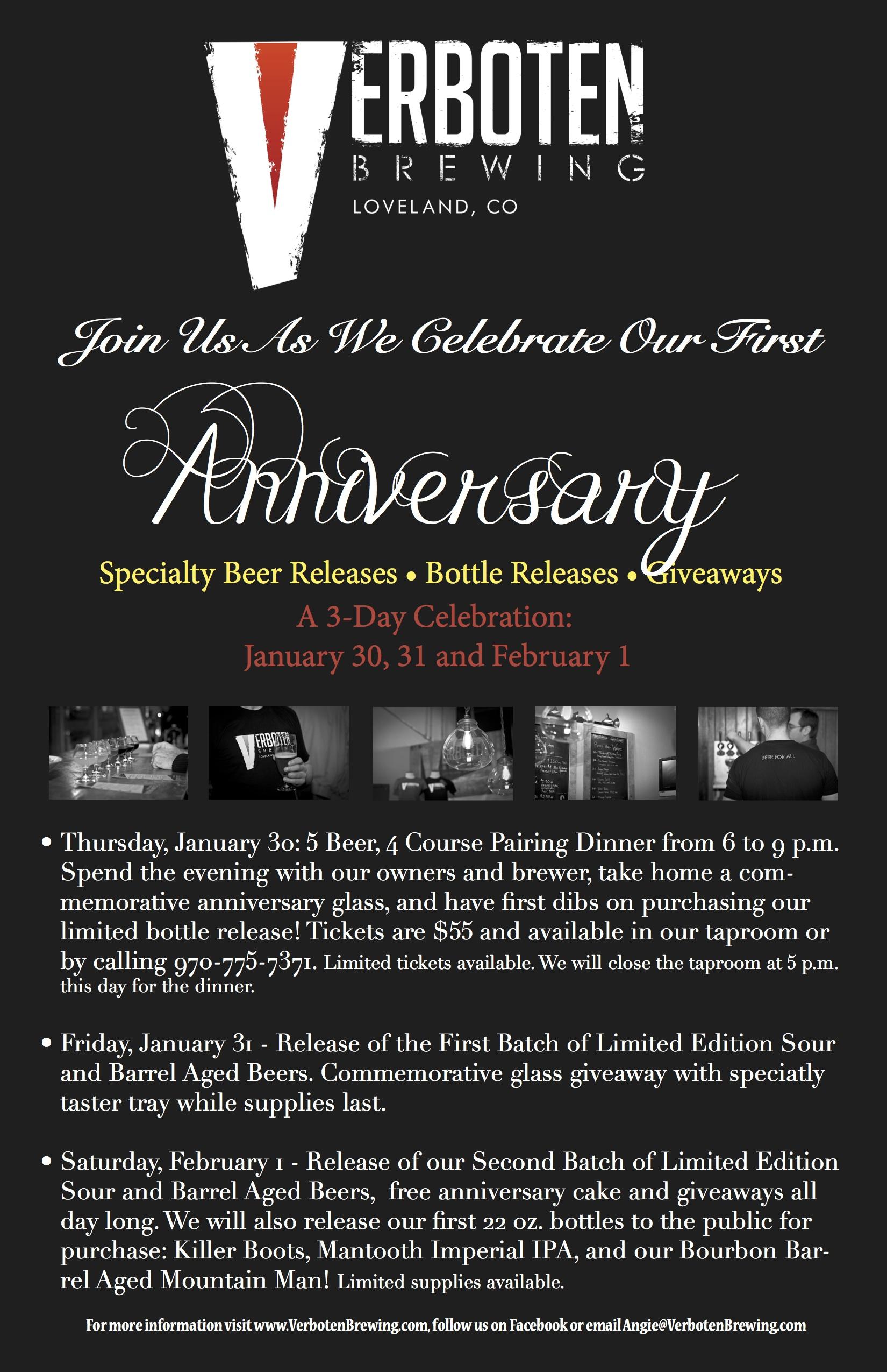verboten - Anniversary Celebration