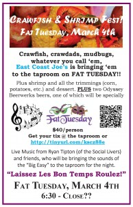 Fat Tuesday flyer