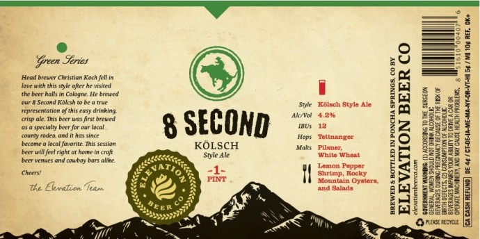 8 second kolsch elevation brewing