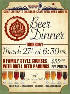 odell beer dinner