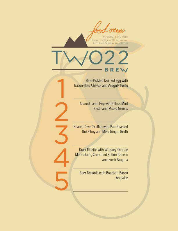 two22brew beer and food pairing