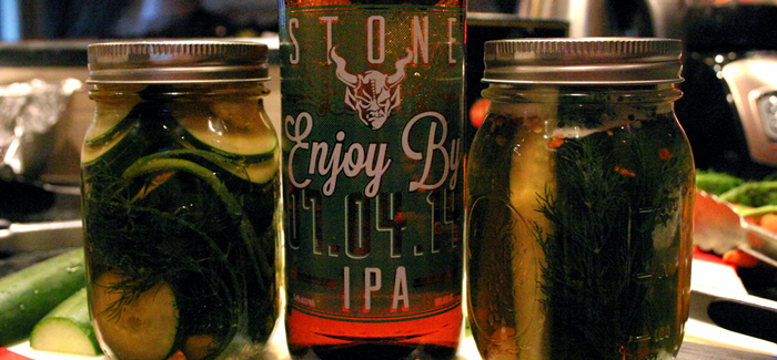 Cooking with Beer | Stone Cold IPA Pickles