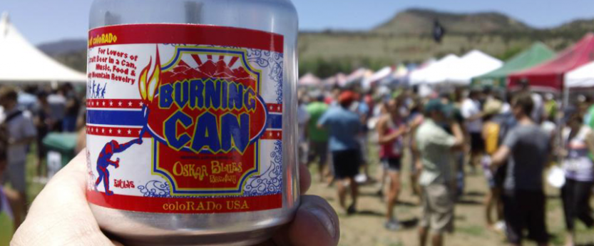 Burning Can Oskar Blues