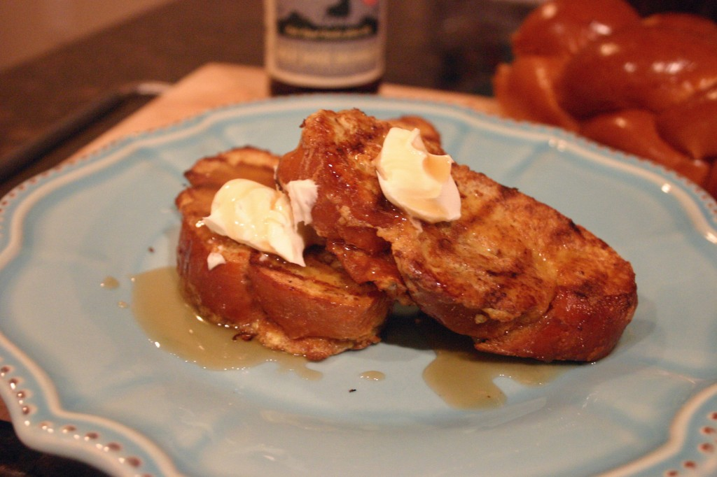 Grilled French Toast with Rumble Syrup