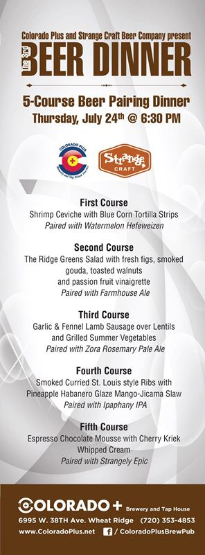 colo plus and strange craft beer dinner - dbb - 07-24-14