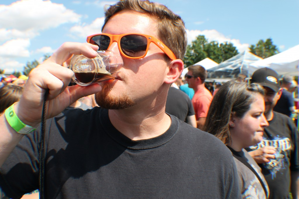 Patron skulls a cold one - springs beer fest 2014 - dbb