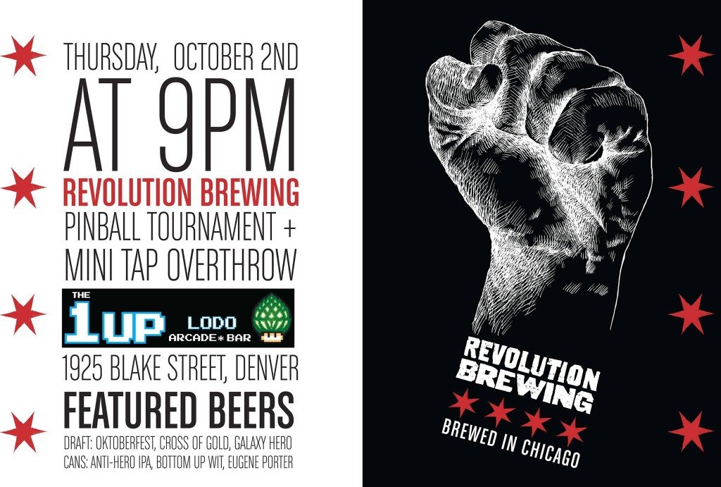 1up - revolution brewing mini tap takeover - 2014 gabf - dbb