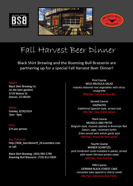 Fall Harvest Beer Dinner at BSB - 2014 gabf - 09-28-14