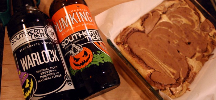 Southern Tier Pumpkin Cheesecake Brownies