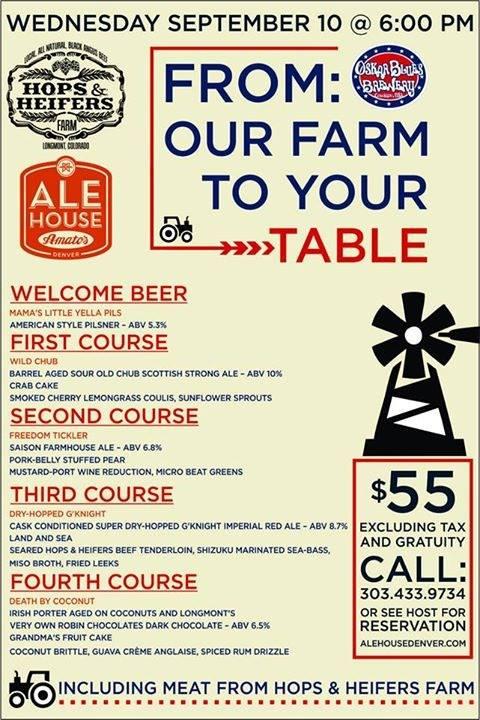 ale house at amatos - OB Farm to Table Beer Dinner- dbb - 09-10-14
