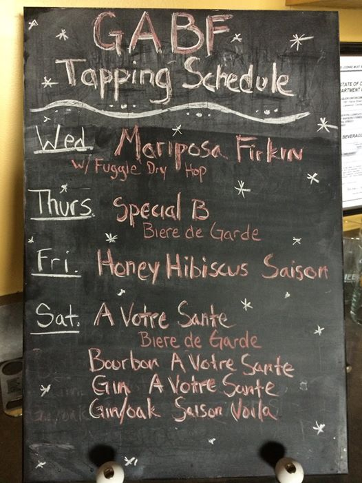 diebolt brewing gabf tapping schedule - gabf 2014 - dbb