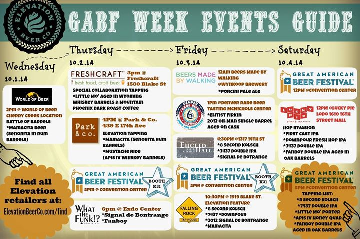 elite brands - gabf week events guide - 2014 gabf - dbb