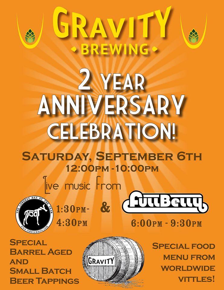 gravity brewing - 2 year anniversary - dbb - 09-06-14