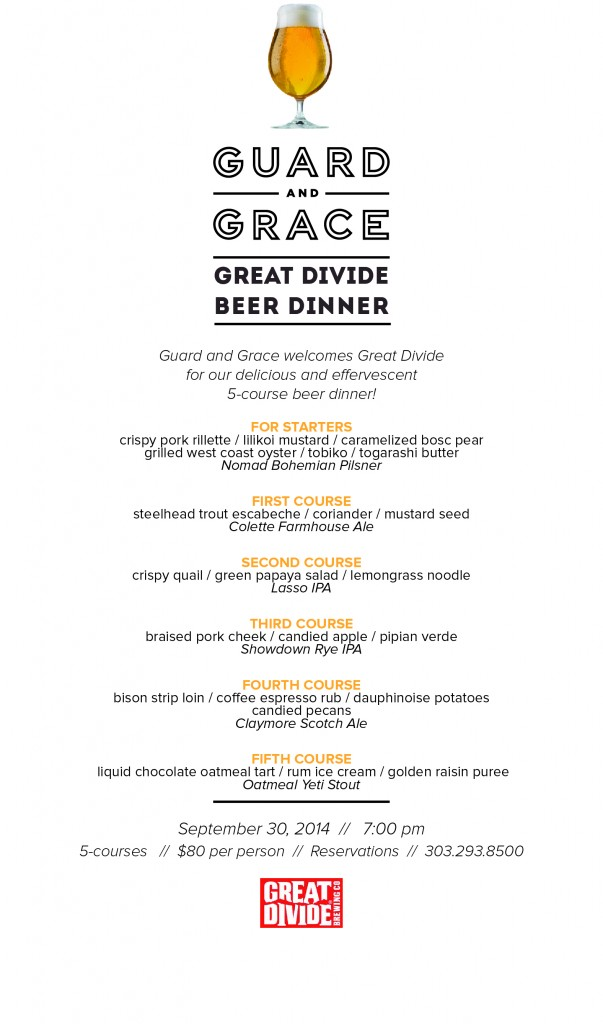 guard and grave - great divide brewing co  beer dinner - gabf 2014 - dbb - 09-30-14