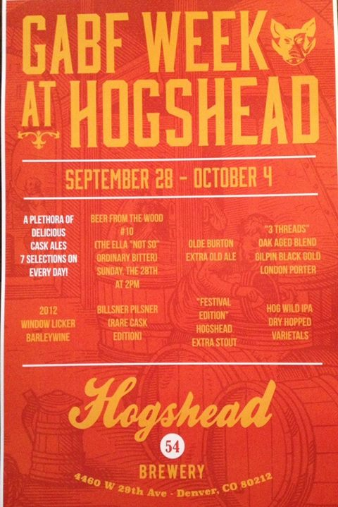hogshead brewery - gabf 2014 - weekly events - dbb