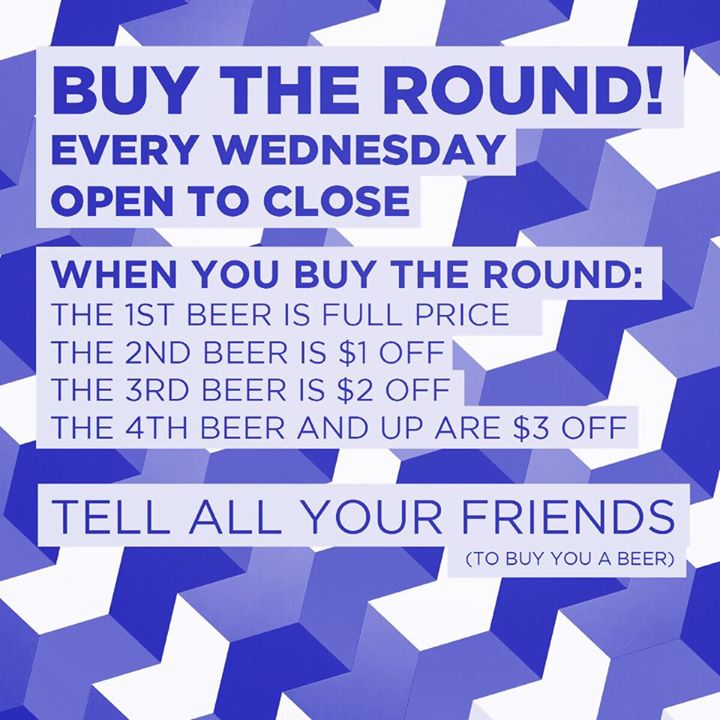 omfm&b - buy the round - every wednesday