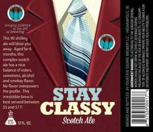 stay classy label