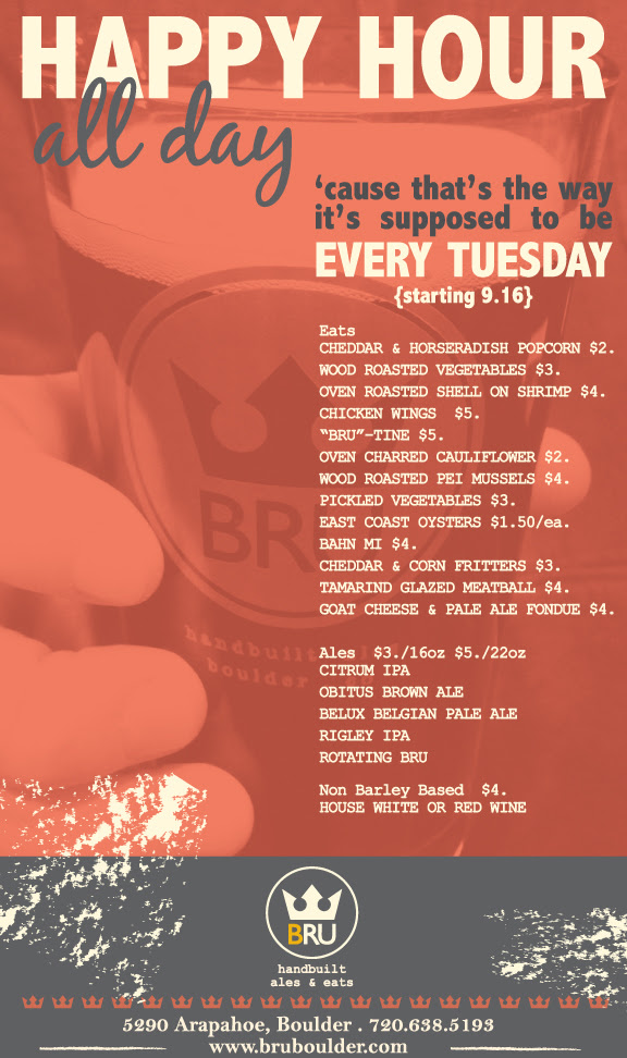 tuesday just got awesome - bru - dbb - every tuesday