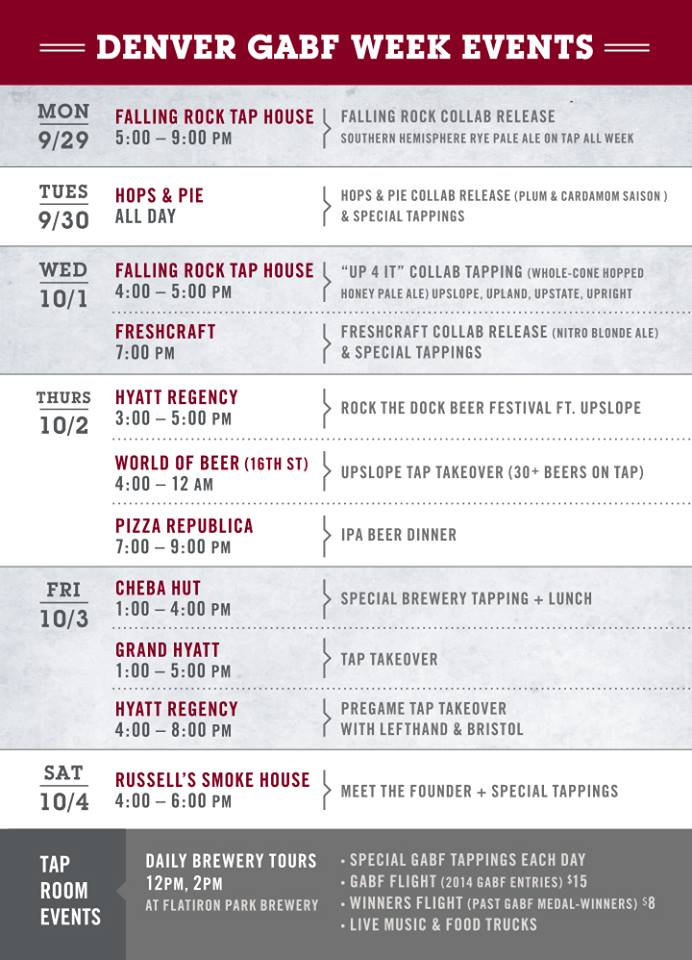 upslope brewing's gabf 2014 events - dbb - 09-27-14