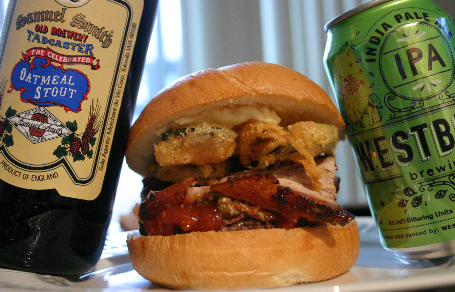 Great American Beer Burger Drink and Spoon
