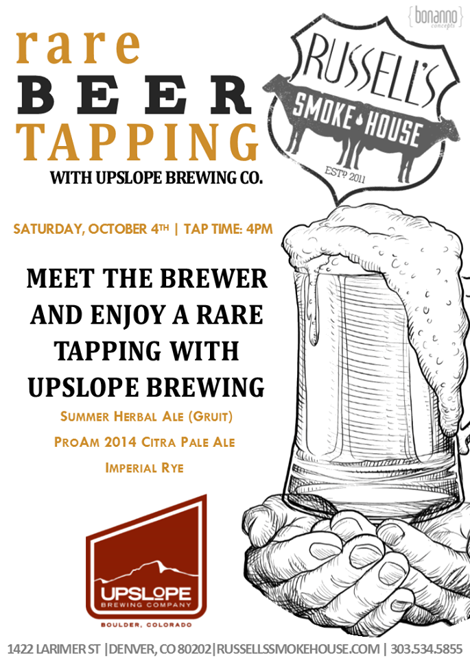 Upslope Brewing at Russell's Smokehouse - gabf 2014 - dbb - 10-04-14
