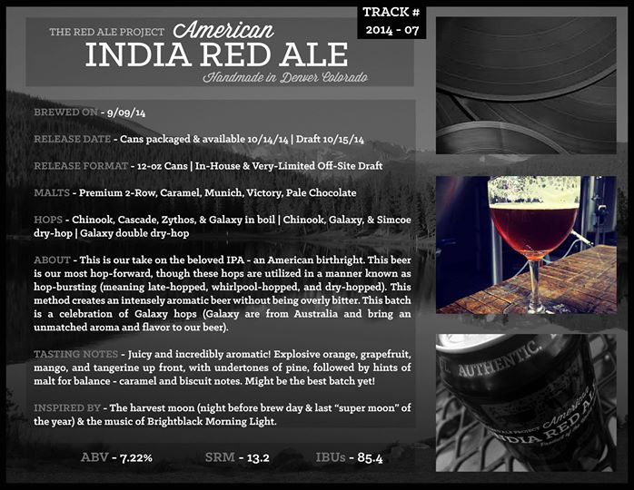 black shirt brewing - track 7 release - india red ale - dbb - 10-15-14